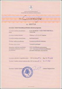Licencija vykdyti profesinį mokymą