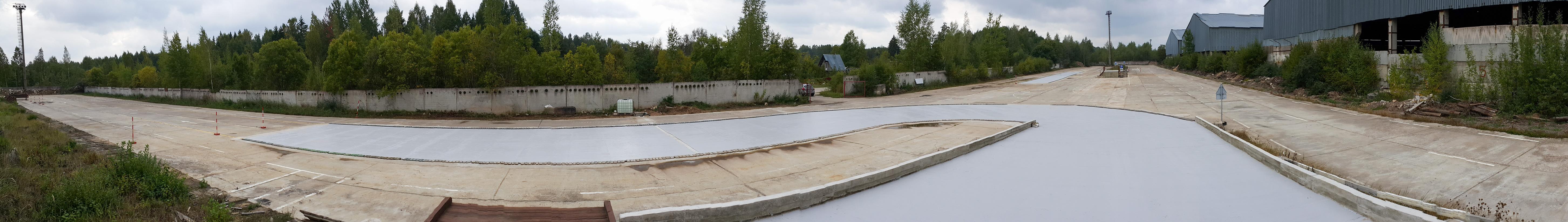 Mokomosios aikštelės panorama